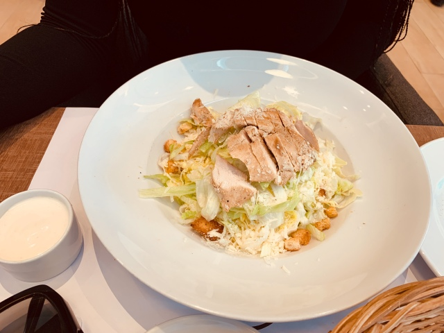 Chicken Ceasar Salad.